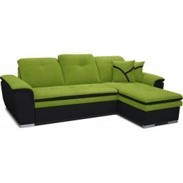 Rohová sedací souprava - Po-Sed - Estevan 2F+L (zelená + černá) (P)