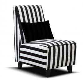 Křeslo - Po-Sed - Riva (černá + bílá) (drevené nohy)