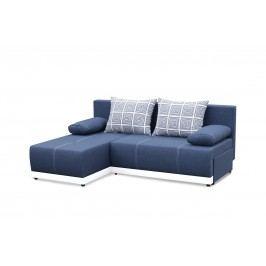 Rohová sedací souprava - Po-Sed - Picollo (modrá + bílá) (L)