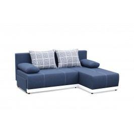 Rohová sedací souprava - Po-Sed - Picollo (modrá + bílá) (P)