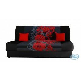 Rozkládací pohovka JAS s červenými květy