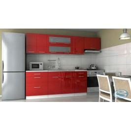 Kuchyňská linka Emilia 180/240 červená vysoký lesk
