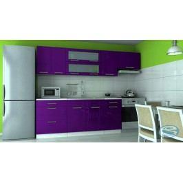 Kuchyňská linka Emilia 180/240 fialová vysoký lesk