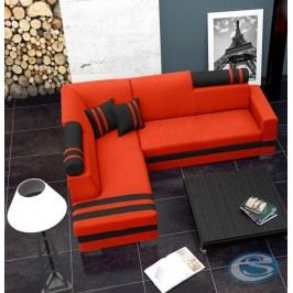 Rohová sedací souprava R1 oranžovo-černá
