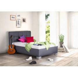 Čalouněná postel Kelly 90x200 šedá koženka - BLANAŘ