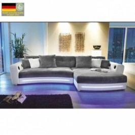 Luxusní sedací souprava Luxlaredo s elektronickými doplňky šedá - TempoKondela