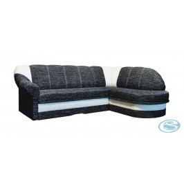 Rozkládací rohová sedačka Bonana pravá šedobílá