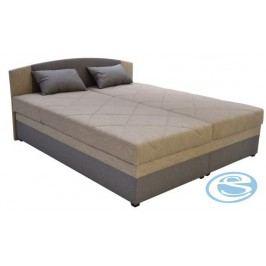 Čalouněná postel Kappa 160 s matrací Alena hnědá - BLANAŘ