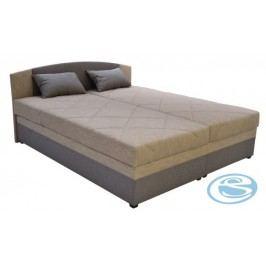 Čalouněná postel Kappa 180 s matrací Alena hnědá - BLANAŘ