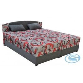 Čalouněná postel Kappa 180 s matrací Alena šedá - BLANAŘ