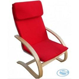 Relaxační křeslo houpací Aly R03 červená
