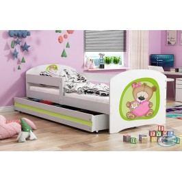Dětská Postel Luki 160x80 bílá/medvídek - BMS
