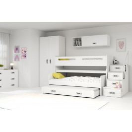 Dětská patrová postel s přistýlkou Max 1 - BM
