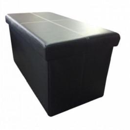 Skládací lavice Imra černá ekokůže - TempoKondela