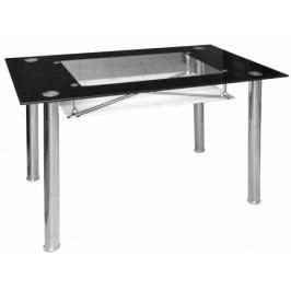 Jídelní stůl Cristal skleněný černý - FALCO