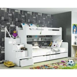 Dětská patrová postel Max 3 bílá - BMS