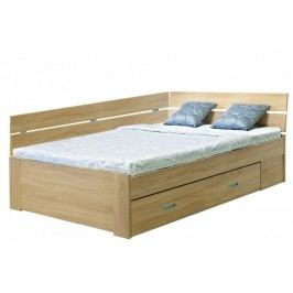 Rohová postel Amélie 140x200 bílá struktura - Mikulík
