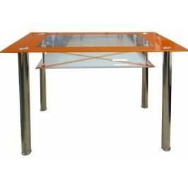 Jídelní stůl Cristal skleněný oranžový
