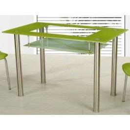 Jídelní stůl Cristal skleněný zelený
