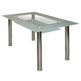Jídelní stůl Cristal skleněný bílý