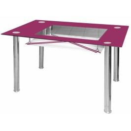 Jídelní stůl Cristal skleněný fialový