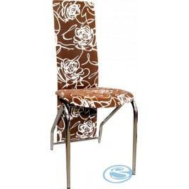 Jídelní židle H-66 hnědý květ