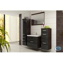 Koupelnový nábytek Evo wenge/černý lesk