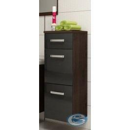 Koupelnová skříňka Evo wenge/černý lesk