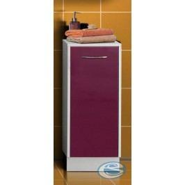 Koupelnová skříňka Nancy-bílá/fialový lesk