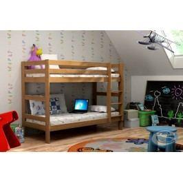 Dětská dřevěná patrová postel Twins - GABI