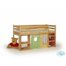 Dětská postel Emi s výsuvným stolkem olše - HALMAR