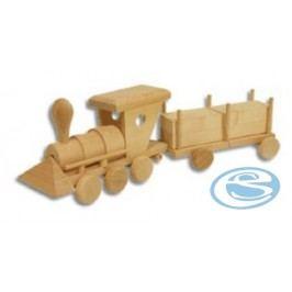 Dřevěná hračka lokomotiva s vagónem AD103 -