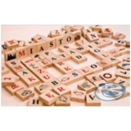 Dřevěné kostičky písmenka přírodní AD406 -
