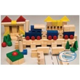 Dřevěná stavebnice kostky XL AD413 -