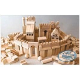 Dřevěná stavebnice kostky XL AD415 -