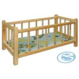Dřevěná postýlka pro panenky AD265 -