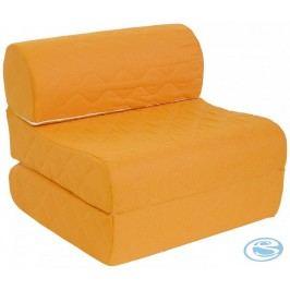 Rozkládací křeslo Pedro oranžové - Mikulík