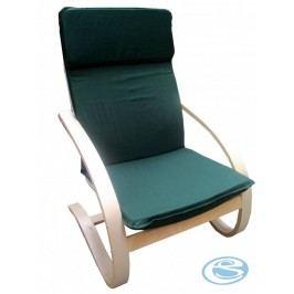 Relaxační křeslo houpací Aly R03  tmavě zelená