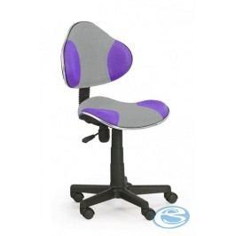 Dětská židle Flash Q-G2 šedo-fialová