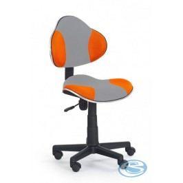 Dětská židle Flash Q-G2 šedo-oranžová