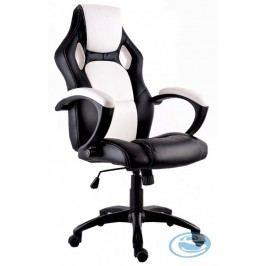 Kancelářské křeslo Lotus bílo-černé - HALMAR