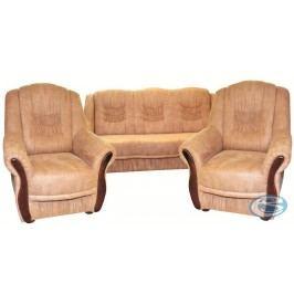 Rozkládací sedací souprava Emanuela 3F+1+1 Elefant/dř.hn.