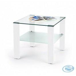 Konferenční stolek Simple H čtverec bílý lesk - HALMAR