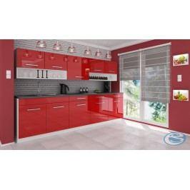 Kuchyňská linka Atractive červená vysoký lesk