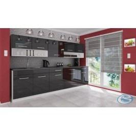 Kuchyňská linka Atractive červená vysoký lesk 260cm