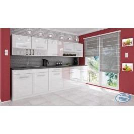 Kuchyňská linka Atractive bílá vysoký lesk 260cm