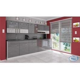 Kuchyňská linka Atractive šedá vysoký lesk 260cm
