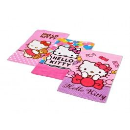 DETEXPOL Osuška froté 30x50 set 3ks Hello Kitty 03