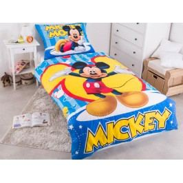 Faro Povlečení Mickey modrý bavlna 140x200 70x90
