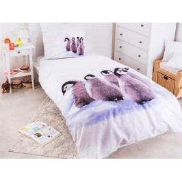 Povlečení Tučňáci mláďata Bavlna 140x200 70x80
